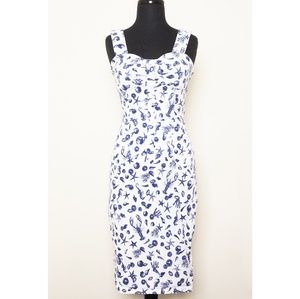 Nautical print wiggle dress
